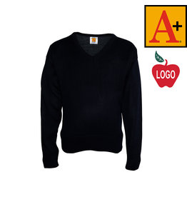 School Apparel A+ Navy Pullover Sweater #6432