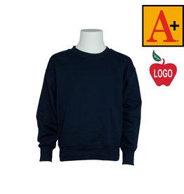 School Apparel A+ Navy Blue Crew Sweatshirt #6254