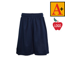 School Apparel A+ Navy Blue Mesh Athletic Shorts #6212