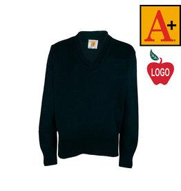 School Apparel A+ Green Pullover Sweater #6500