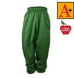 School Apparel A+ Green Polyfleece Pant #6213