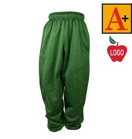 School Apparel A+ Green Polyfleece Pant #6213