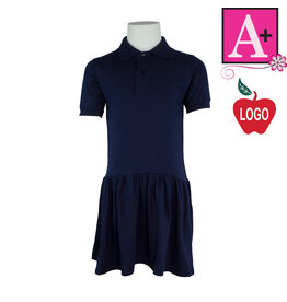 School Apparel A+ Navy Blue Short Sleeve Knit Dress #9729