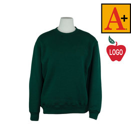 School Apparel A+ Green Crew Sweatshirt #6254