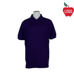 School Apparel A+ Purple Short Sleeve Polo #8760