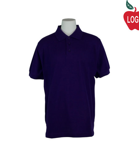 School Apparel A+ Purple Short Sleeve Polo #8760