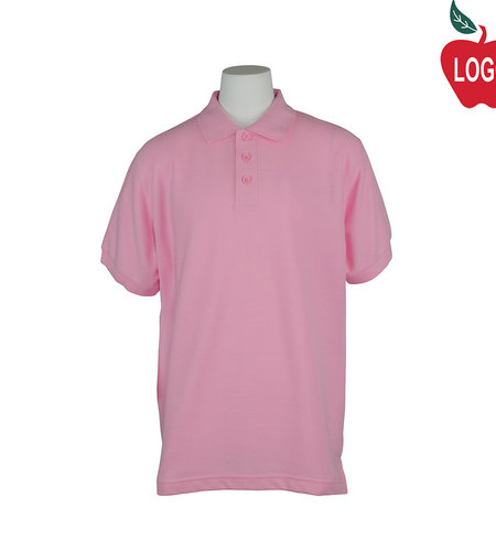 School Apparel A+ Pink Short Sleeve Polo #8760