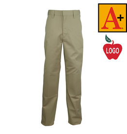School Apparel A+ Khaki Plain Front Pants #7120M