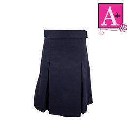 School Apparel A+ Navy Blue 4-pleat Skirt #1034