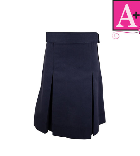 School Apparel A+ Navy Blue 4-pleat Skirt #1034