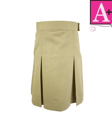 School Apparel A+ Khaki 4-pleat Skirt #1034