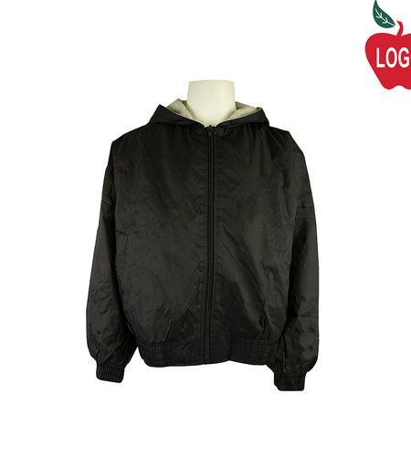 Classroom Black Hooded Nylon Jacket #53402