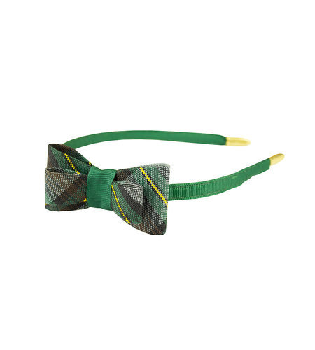 EE Dee Trim Harris Plaid Bow Headband #FBE9HB