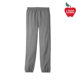 School Apparel A+ Sport Grey Sweatpant #6252