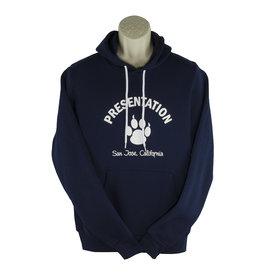 Bella T18 Navy Hooded Sweatshirt