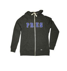 New Era L18 Charcoal Zip Hooded Sweatshirt