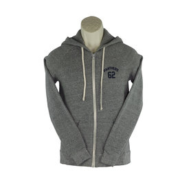 District Threads DD18 Grey Zip Hooded Sweatshirt