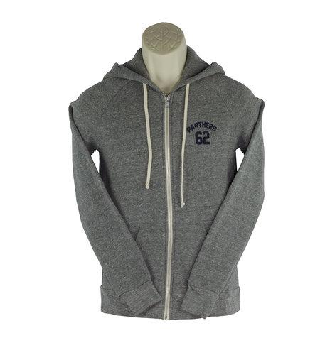 District Threads DD18 Grey Zip Hooded Sweatshirt