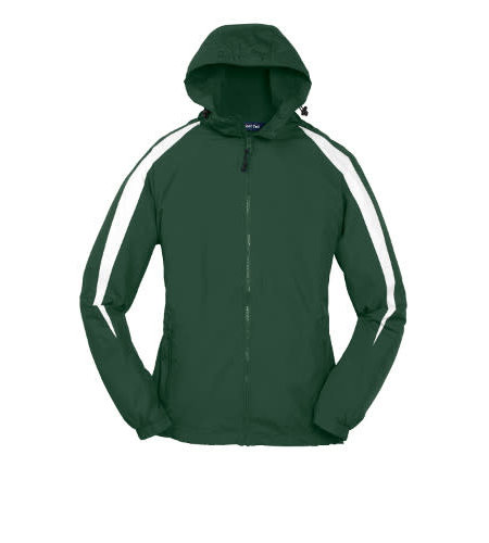 Sport-Tek Green Hooded Nylon Jacket #JST81