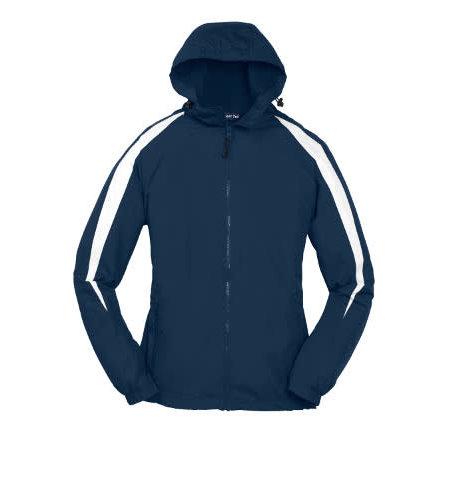 Sport-Tek Navy Hooded Nylon Jacket #JST81
