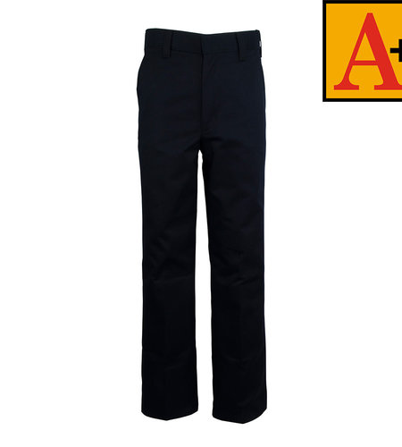 School Apparel A+ Navy Blue Plain Front Pants #7064