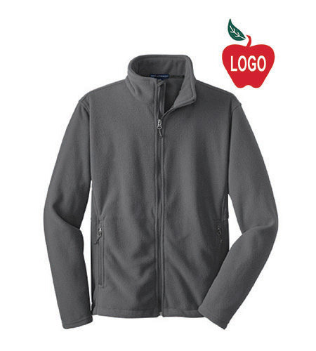 Port Authority Grey Full Zip Fleece Jacket #217