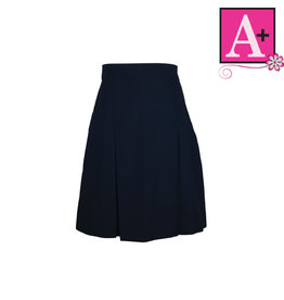 School Apparel A+ Navy Gabardine Extra Length Skirt