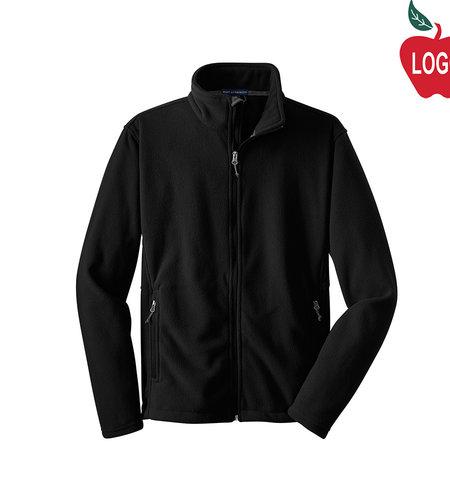Black Full Zip Fleece Jacket #F217