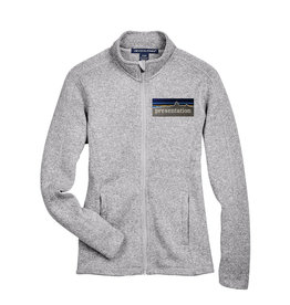 Devon & Jones WEB|Q20 FULL ZIP SWEATER JACKET DG793W|PRESENTATION|GREY HEATHER|