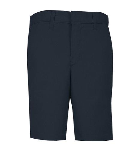 School Apparel A+ Boys Navy Plain Front Stretch Shorts #7897