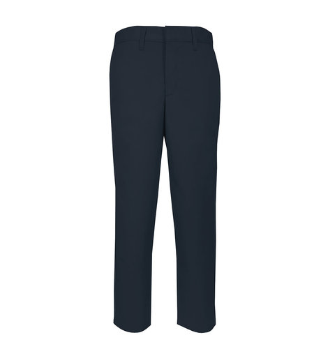 School Apparel A+ Mens Navy Plain Front Stretch Pant #7894