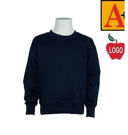 School Apparel A+ Navy Crew Sweatshirt #6254