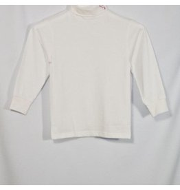 School Apparel A+ White Jersey Knit Turtleneck #8100