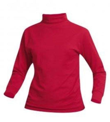 School Apparel A+ Red Jersey Knit Turtleneck #8100