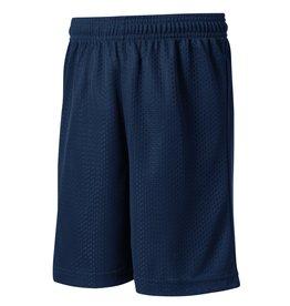 Navy Blue Mesh Athletic Shorts #ST510