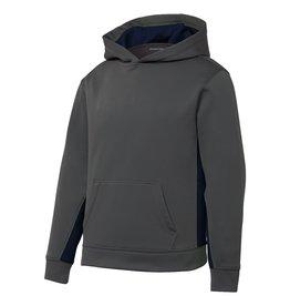 Gray Hooded Pullover Sweatshirt #YST235