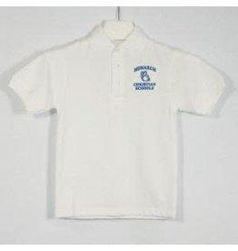 School Apparel A+ Royal Short Sleeve Interlock Polo #8320