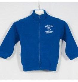 School Apparel A+ Royal Fleece Full Zip #3540