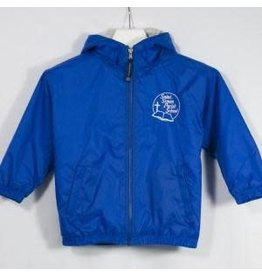 Sport-Tek Royal Blue Hooded Nylon Jacket #JST81