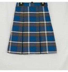 Rifle Plaid 2-Kick Pleat Skirt #073