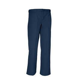 Rifle BOYS NAVY HUSKY RELAXED FIT PLAIN FRONT ADJUSTABLE WAIST PANT