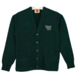 School Apparel A+ SUNNYVALE CHRISTIAN CLASSIC V-NECK CARDIGAN WITH EMBROIDERED LOGO