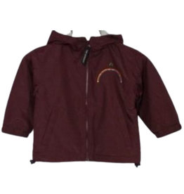 Tri Mountain RAINBOW MONTESSORI BAY WATCH LINED NYLON HOODED JACKET WITH EMBROIDERED LOGO