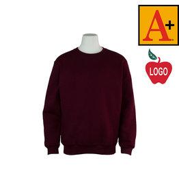 School Apparel A+ Wine Crewneck Sweatshirt #6254