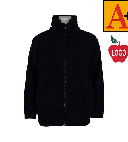 School Apparel A+ Navy Full-Zip Fleece Jacket #6202