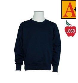 School Apparel A+ Navy Crewneck Sweatshirt #6254
