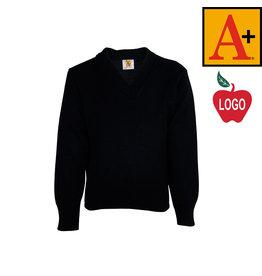 School Apparel A+ Navy V-Neck Pullover Sweater #6500