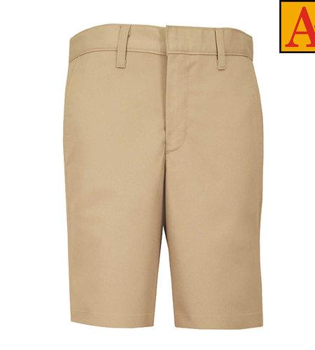 School Apparel A+ Boys Khaki Plain Front Stretch Shorts #7897