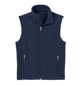 Port Authority Navy Sleeveless Fleece Vest