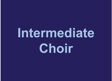 Intermediate Choir